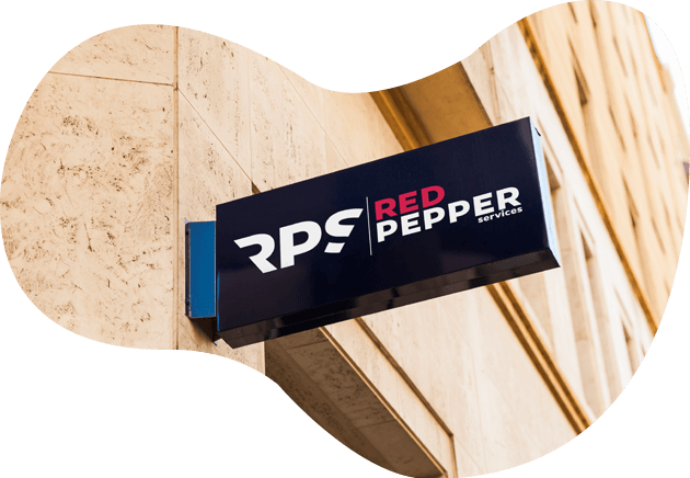 red pepper Schild